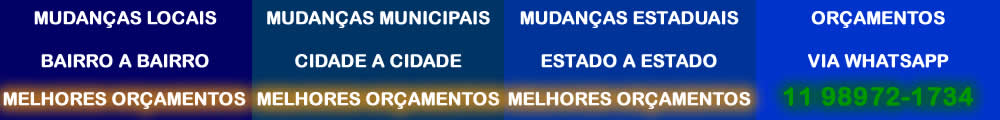Orçamentos mudanças São Paulo